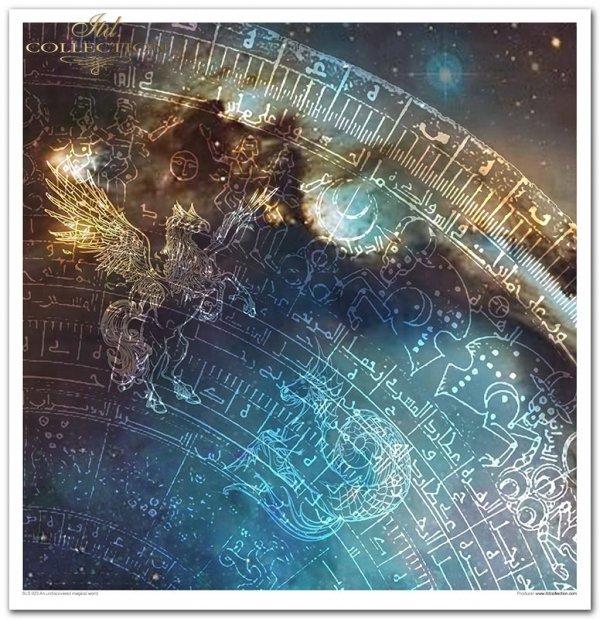 Nieodkryty magiczny świat, astrologia, niebo, konstelacje, gwiazdozbiór, mityczne zwierzęta, znaki zodiaku, hipogryf, zamek Drakuli, smok, smoki, skóra smoka, smocza łuska, złoty smok, napisy, litery, runy, alfabet runiczny, wierzenia nordyckie, las, jele