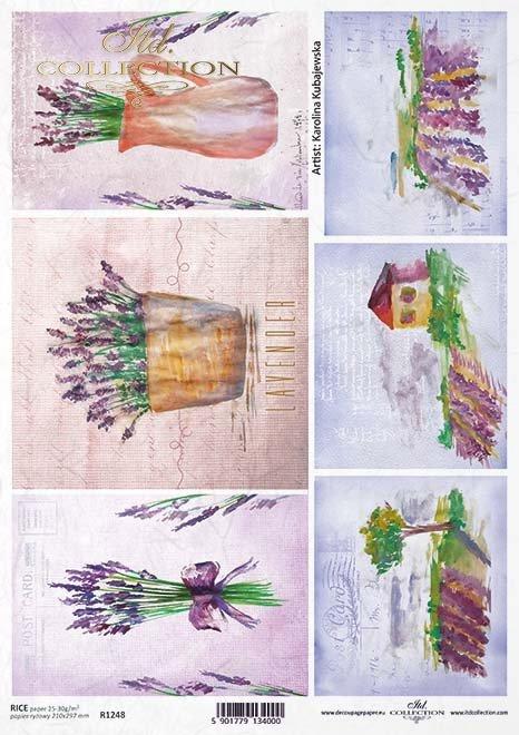 Papel Decoupage pintura contemporánea, flores*Бумага Декупаж современная живопись, цветы*Papier Decoupagepapier zeitgenössische Malerei, Blumen