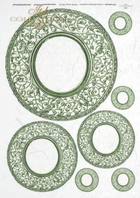 talerz, talerze, ornament, ornamenty, dekor, dekory, R0107