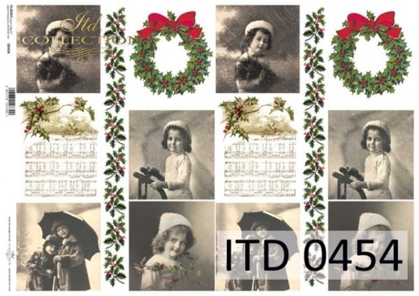Papier decoupage ITD D0454