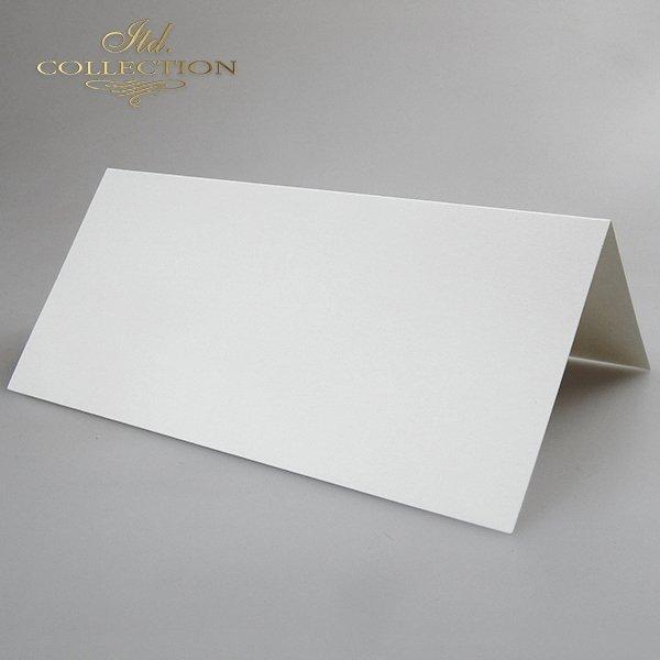 Baza do kartki kolor Biel naturalna. Format kartki stworzony do koperty DL