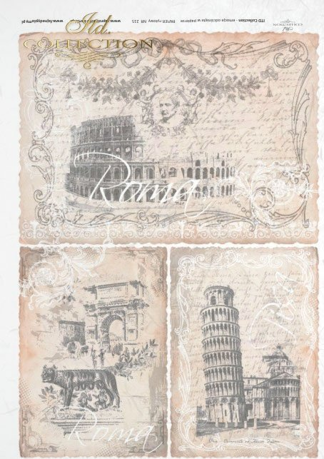 cities, Rome, old postcards, beautiful background, pastel colors
