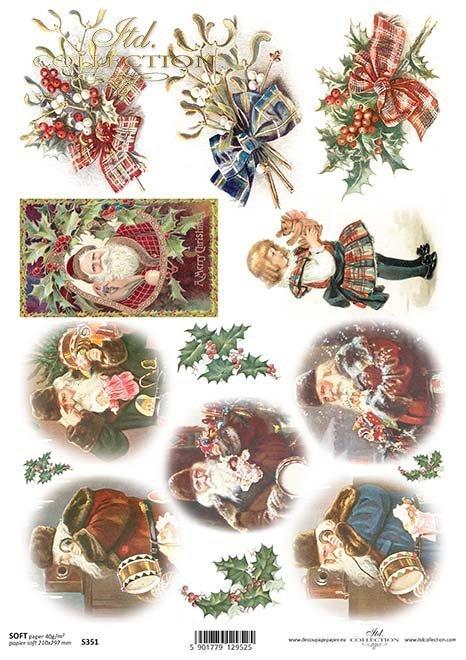 Vintage Paper Decoupage-Nikolaus*Papel de la vendimia Decoupage-Nicholas*Vintage Paper Decoupage-Nicholas