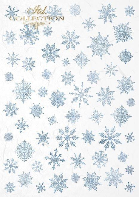 Zestaw kreatywny na papierze ryżowym - Świąteczny czas * Creative set on rice paper - Christmas time