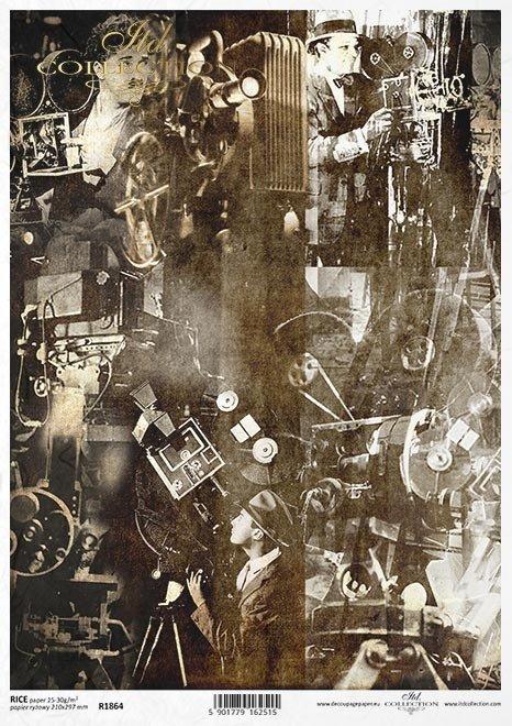 Magia kina, kamery, kolaż, reżyserzy*The magic of cinema, cameras, collage, directors*Die Magie des Kinos, Kameras, Collagen, Regisseure*La magia del cine, las cámaras, el collage, los directores