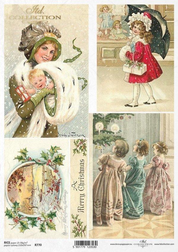 Christmas decorations, Christmas, winter, retro, Christmas tree, R770