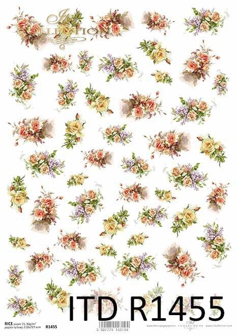 kwiaty, bukiety kwiatów, drobne elementy*flowers, flower bouquets, small items