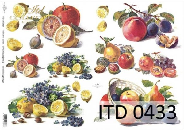 Papier decoupage ITD D0433