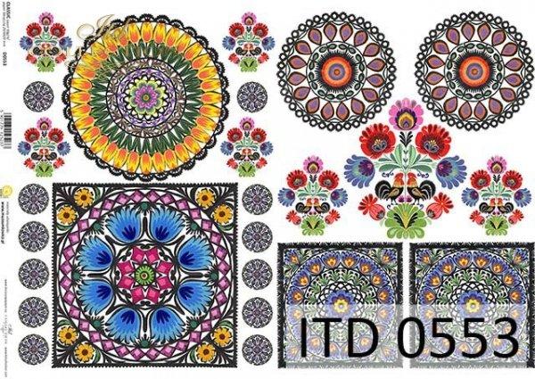 Papier decoupage ITD D0553