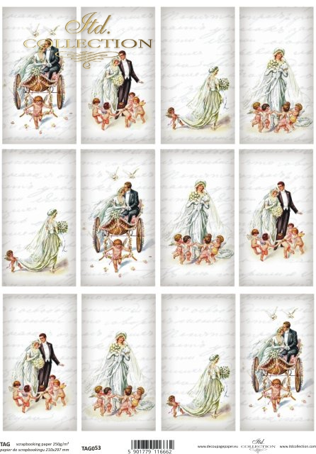 scrapbooking, TAG, labels, pendants, bride, groom, newlyweds