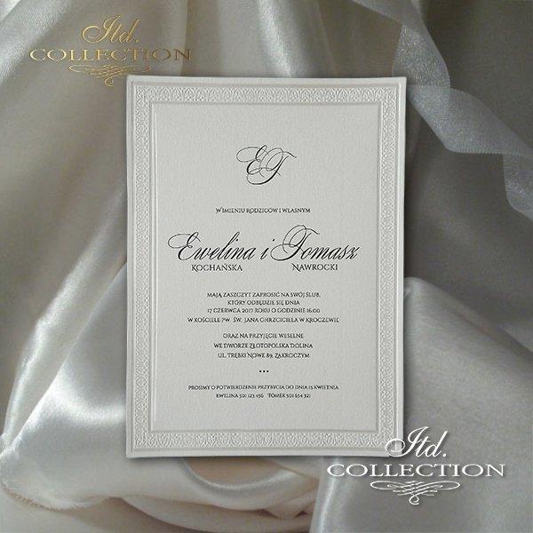 Zaproszenia ślubne Zaproszenia Klasyczne Romantyczne Nowoczesne