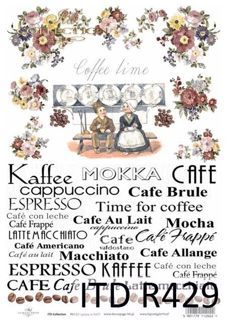 napisy, coffee time, kawa, ziarna kawy, Cafe, Kaffee, Mokka, Cafe au Lait, Espresso, macchiato, espresso, time for coffee, kwiaty, retro, R429