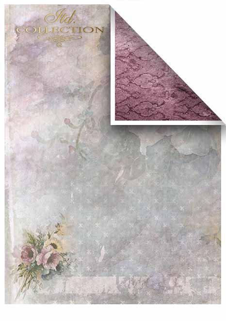 Papiery do scrapbookingu w zestawach - Romantyczny ogród * Scrapbooking papers in sets - Romantic garden