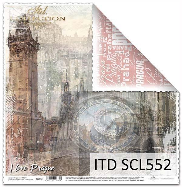 Papier scrapbooking SCL552