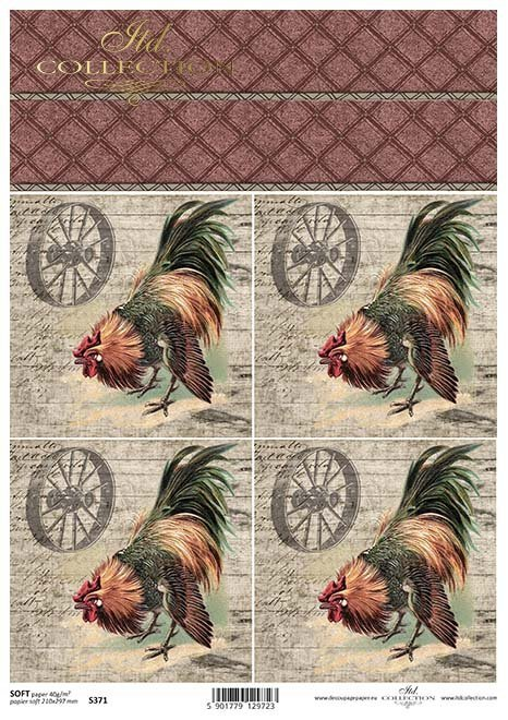 Decoupagepapier SOFT*Papír Decoupage SOFT*Papel Decoupage SOFT