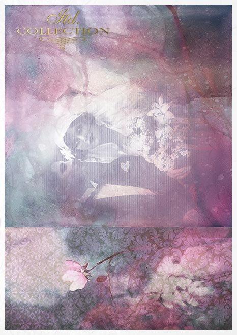 Conjunto creativo sobre papel de arroz - Enamorarse*Kreativsatz auf Reispapier - verliebend*Творческий набор на рисовой бумаге - влюбиться