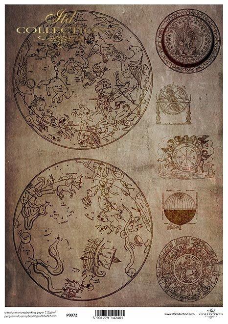 Astrologia, konstelacje gwiezdne, mapa nieba, stare ryciny, stara mapa nieba*astrology, star constellations, sky map, old engravings, old sky map