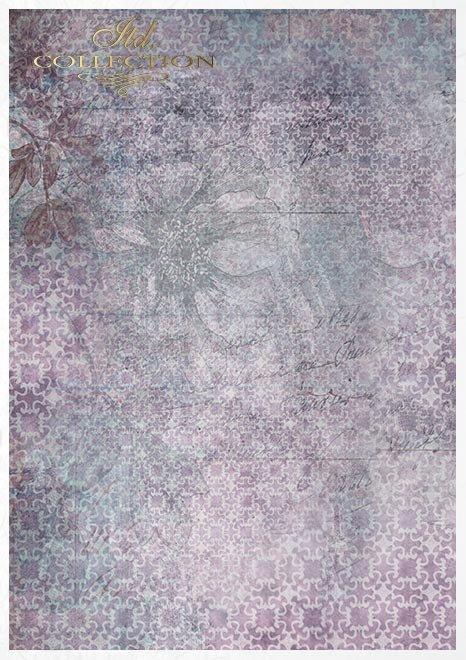 Conjunto creativo sobre papel de arroz Evening Meadow*Kreativset auf Reispapier Evening Meadow