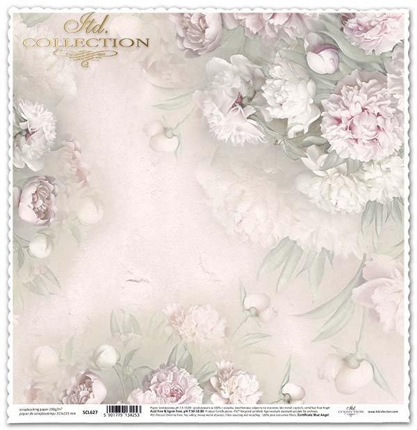 álbum de recortes de papel, flores peonías*скрапбукинга бумажные цветы, пионы*Scrapbooking Papierblumen , Pfingstrosen
