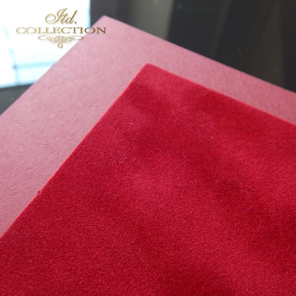Papier do scrapbookingu ''flok'' kolor czerwony A4 * PSS005