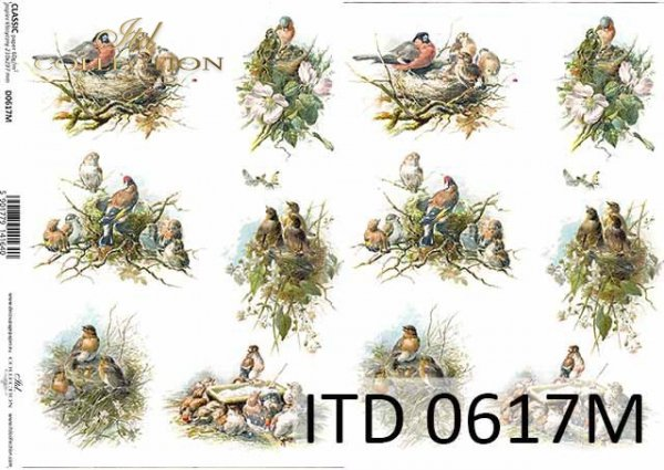 Papier decoupage ITD D0617M