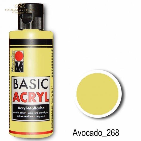 Farba akrylowa Basic Acryl 80 ml Avocado 268