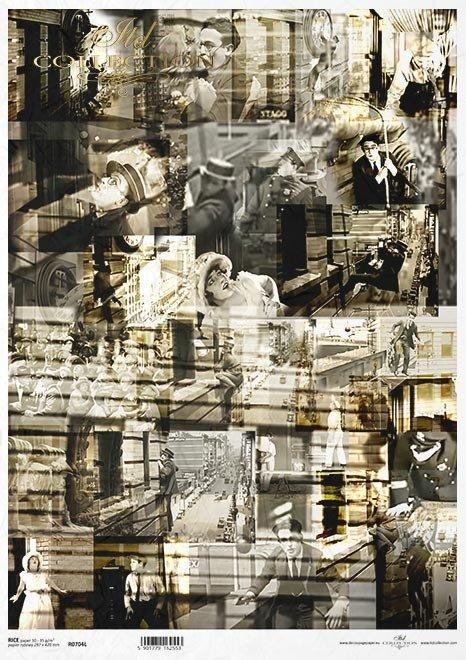 Magia kina, kolaż, sceny, słynne sceny Harolda Lloyda, kadry filmowe*The magic of cinema, collage, scenes, famous scenes of Harold Lloyd, film stills*Die Magie des Kinos, Collage, Szenen, berühmte Harold Lloyd Szenen, Filmstills*La magia del cine, collage