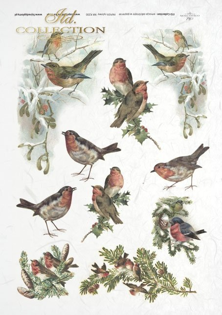 ITD-Collection-decoupage-scrapbooking-mixed-media-winter-bird-birds-twigs