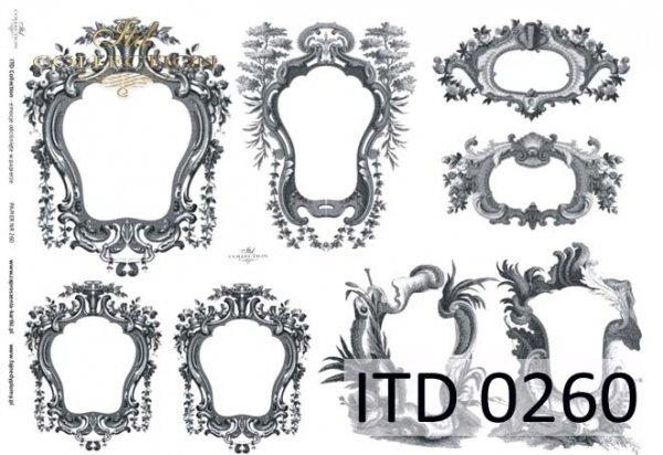 Papier decoupage ITD D0260