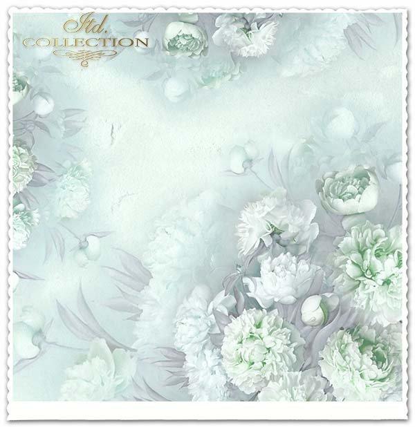 papier do scrapbookingu kwiaty, Peonie*Paper for scrapbooking flowers, Peonie