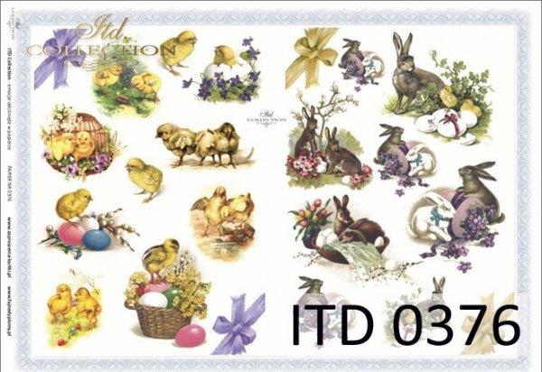 Papier decoupage ITD D0376