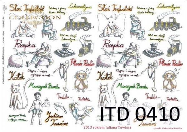 Papier decoupage ITD D0410