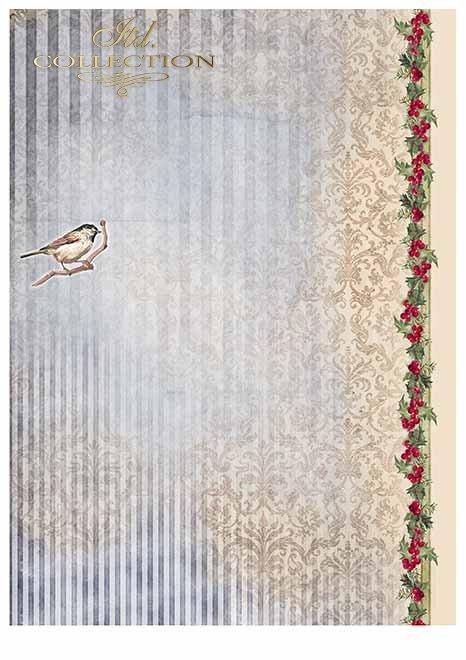 Papiery do scrapbookingu w zestawach - Wesołych Świąt*Papiere für Scrapbooking in Sätzen - Frohe Weihnachten