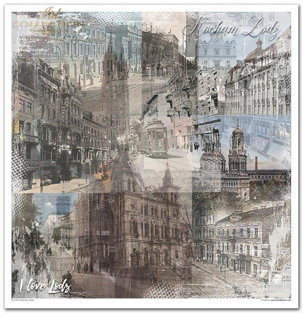 Seria Beautiful cities, miasta, stolice, piękne miasta, Paris, Barcelona, London, New York, kolaże, collage