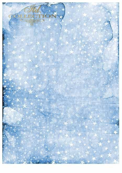 Papiery do scrapbookingu w zestawach - Aniołkowo i śnieżynki*Scrapbooking-Papiere in Sets - Engel und Schneeflocken