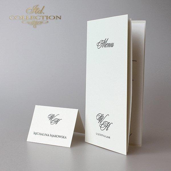 Zaproszenia ślubne / zaproszenie 2046 z kremową kopertą