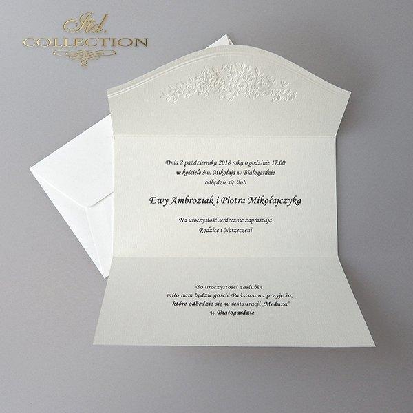 Zaproszenia ślubne / zaproszenie 2019