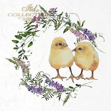 zwierzęta wielkanocne, wieńce, kwiaty, wiosenne kwiaty, łąka, wianki, zające, króliczki, kurczaki*easter animals, wreaths, flowers, spring flowers, meadow, garlands, bunnies, bunnies, chickens