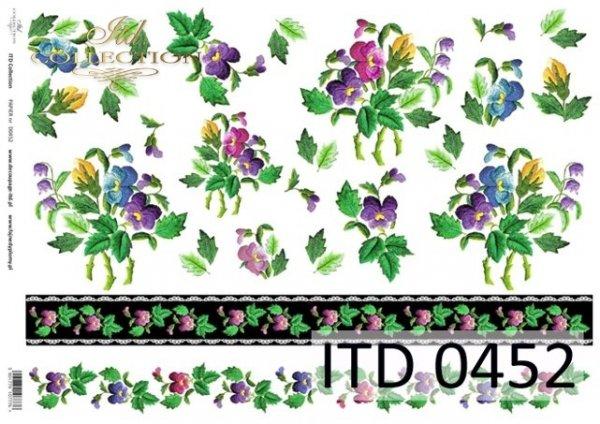 Papier decoupage ITD D0452