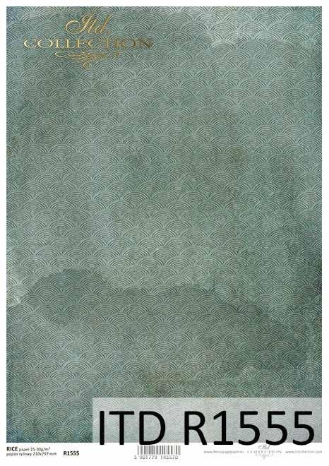 Papier decoupage niebiesko-turkusowe tło*Decoupage paper blue-turquoise background