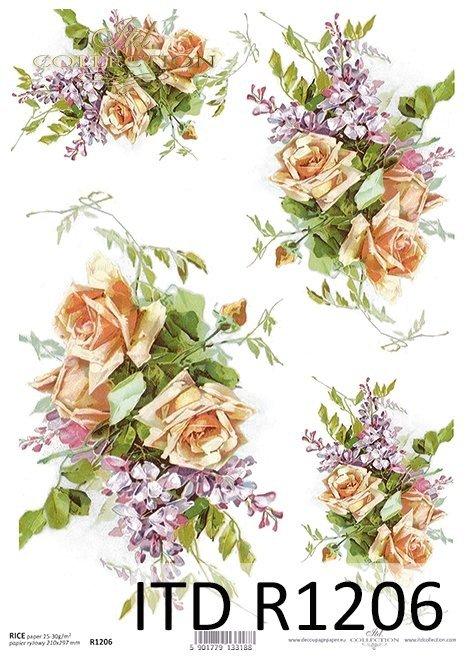 Papier ryżowy kwiaty*Rice paper flowers
