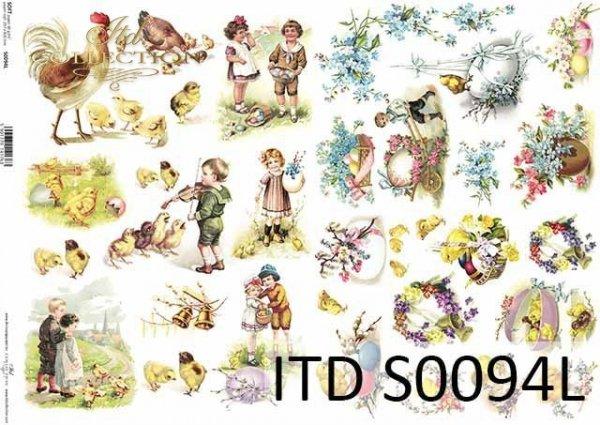 Papier decoupage SOFT ITD S0094L