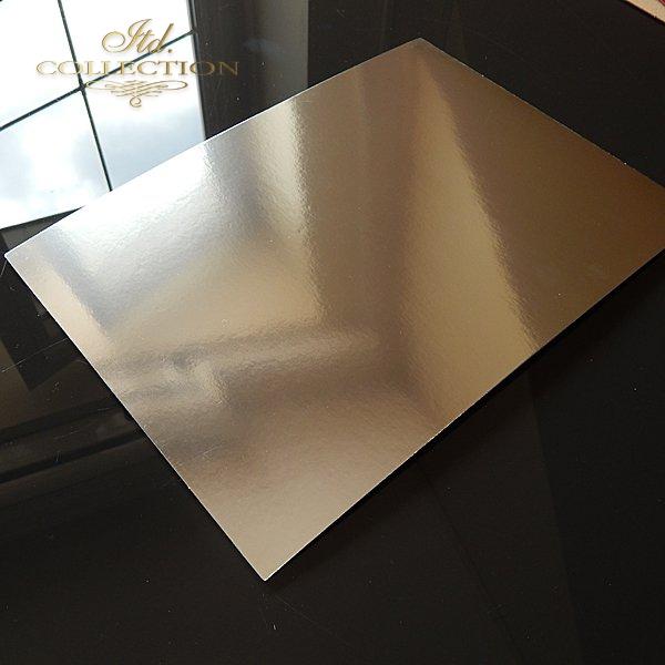 .Papier do scrapbookingu kolor srebrny błyszczący A4 * PSS003