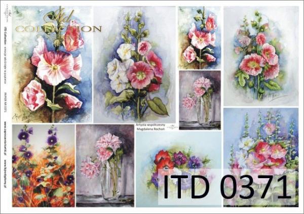 Papier decoupage ITD D0371