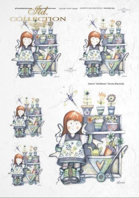 papier-ryżowy-decoupage-anioł-aniołek-aniołki-doniczka-kwiatki-ogrodniczka-Dorota-Marciniak-R0153