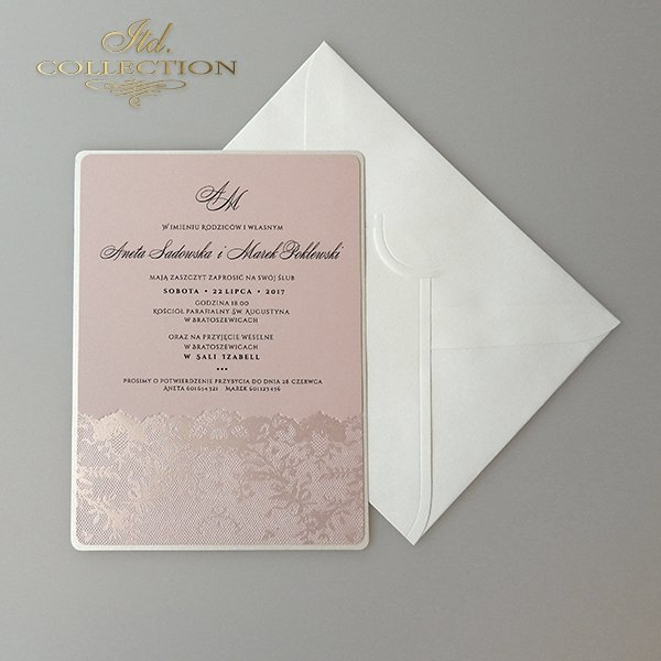 Zaproszenia ślubne / zaproszenie 2030
