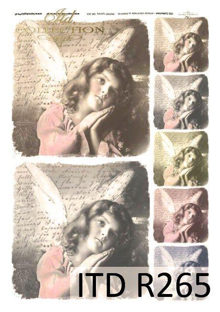 aniołek, aniołki, anioł, anioły, dzieci, dziewczynki, portrety dzieci, styl retro, R265