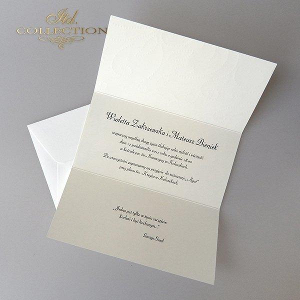 Zaproszenia ślubne / zaproszenie 2031