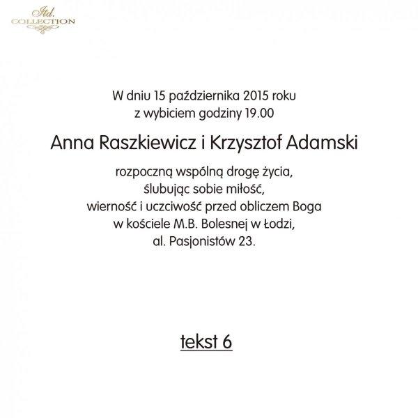 Teksty Na ślub Ts6 Polskie Zaproszenia ślubne Fajne Teksty Na