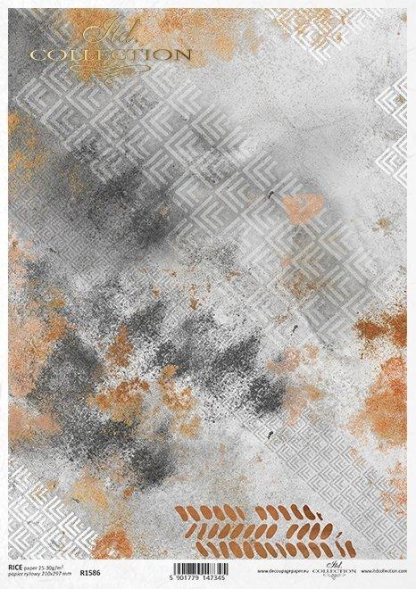 Do-decoupage-Papier-ryzowy-decoupage-R1586 small N-miedziane-tlo-kolaz-tapetowy-beton-i-rdza 1